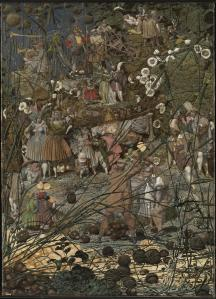 The Fairy Feller's Master-Stroke 1855-64 Richard Dadd 1817-1886 Presented by Siegfried Sassoon in memory of his friend and fellow officer Julian Dadd, a great-nephew of the artist, and of his two brothers who gave their lives in the First World War 1963 http://www.tate.org.uk/art/work/T00598